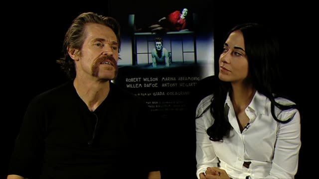 willem dafoe giada colagrande on a favorite part of the film at bob wilson's life and death of marina abramovic interviews 69th venice film festival... - marina abramovic stock videos and b-roll footage