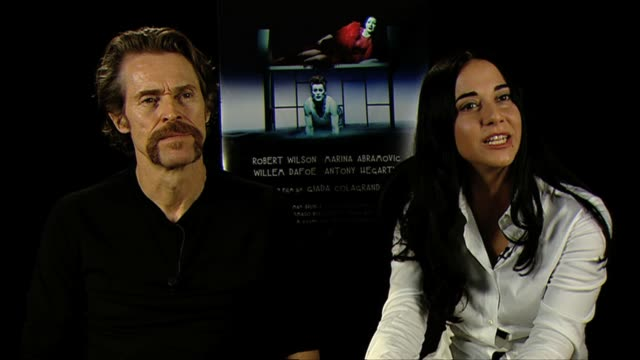 willem dafoe giada colagrande on the style and collaboration of the film at bob wilson's life and death of marina abramovic interviews 69th venice... - marina abramovic stock videos and b-roll footage