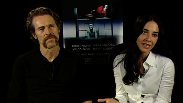 willem dafoe giada colagrande on what effect they hope the film has on the audience at bob wilson's life and death of marina abramovic interviews... - marina abramovic stock videos and b-roll footage