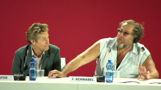 gif willem dafoe julian schnabel at the 'at eternity's gate' press conference during the 75th venice international film festival on august 28 2018 in... - cannes stock videos & royalty-free footage