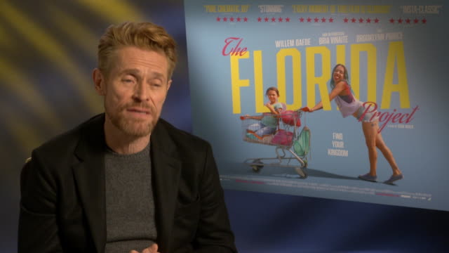 INTERVIEW Willem Dafoe on cinematographer Alexis Zabe at 'The Florida Project' Interview 61st BFI London Film Festival at The May Fair Hotel on...