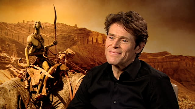 Willem Dafoe on Taylor Kitsch at John Carter Interviews at Corinthia Hotel London on March 2 2012 in London England