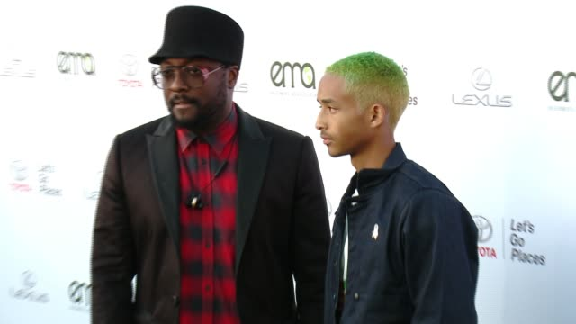 william and jaden smith at the 27th annual environmental media association awards at barker hangar on september 23 2017 in santa monica california - barker hangar stock videos & royalty-free footage