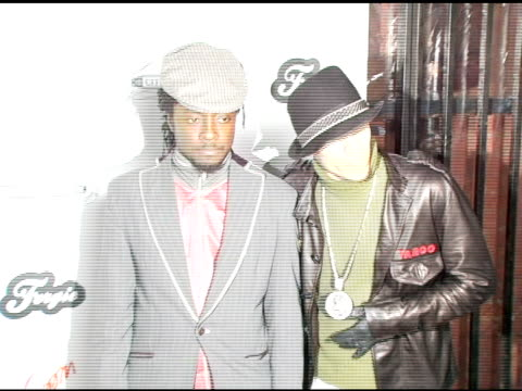william and taboo of the black eyed peas at the birthday celebration for fergie at citizen smith in hollywood california on march 28 2006 - the black eyed peas band stock videos and b-roll footage