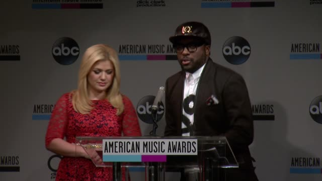speech william announces the favorite artist alternative rock nominees at the 2013 american music awards nominations press conference at bb king... - 2013 american music awards stock videos & royalty-free footage