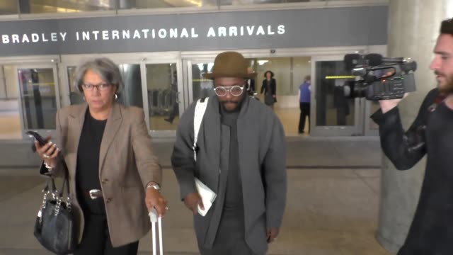 william arriving at lax airport in los angeles at celebrity sightings in los angeles on february 23 2016 in los angeles california - will.i.am stock videos & royalty-free footage