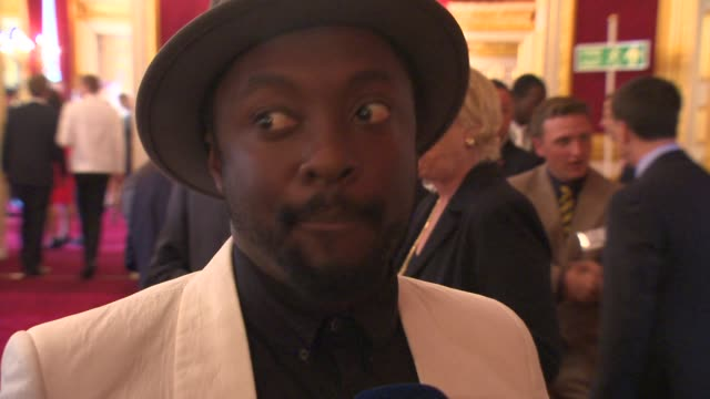 william at prince's trust reception at clarence house on june 20 2013 in london england - will.i.am stock videos & royalty-free footage