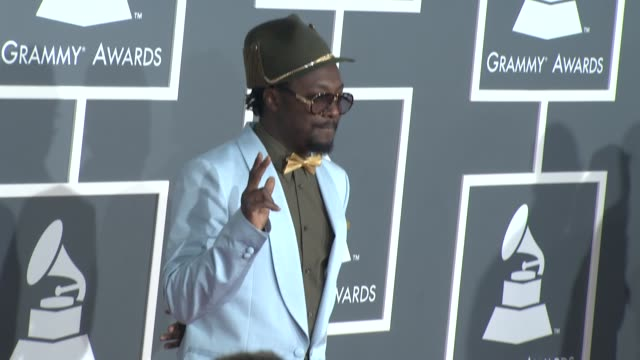 william at the 51st annual grammy awards part 5 at los angeles ca - will.i.am stock videos & royalty-free footage