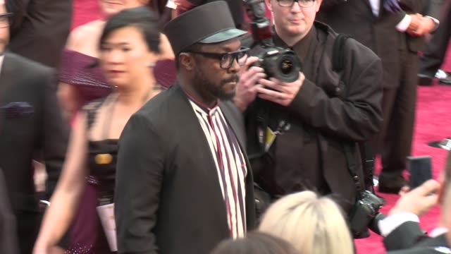 william at the 87th annual academy awards arrivals at dolby theatre on february 22 2015 in hollywood california - will.i.am stock videos and b-roll footage