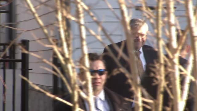 william barr, the united states attorney general, leaving his home on march 5, 2019 in mclean, virginia. - chromosome stock videos & royalty-free footage