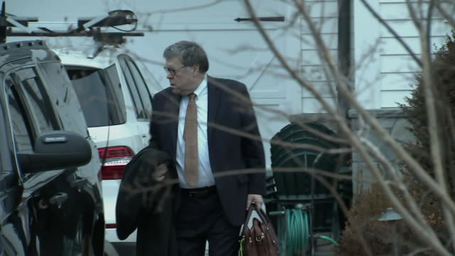 william barr, the united states attorney general, leaving his home on february 15, 2019 in mclean, virginia. - chromosome stock videos & royalty-free footage