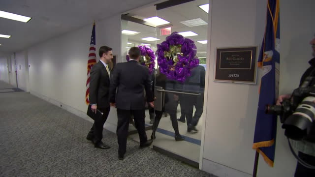 william barr, the united states attorney general, walks down a hallway in the hart senate office building on january 29, 2019 in washington d.c. - chromosome stock videos & royalty-free footage