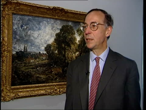 exhibition william feaver interview sot when first met lucien we said wouldn't it be wonderful to have constable exhibition in which we were free to... - will.i.am stock videos & royalty-free footage