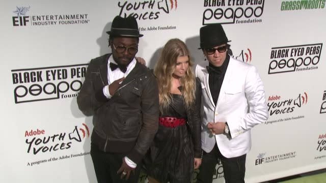 william fergie and taboo of the black eyed peas at the 5th annual black eyed peas peapod foundation benefit concert at los angeles ca - benefit concert stock videos & royalty-free footage