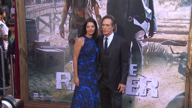 william fichtner and kymberly kalil at the lone ranger los angeles premiere william fichtner and kymberly kalil at the lone r at disney california... - the lone ranger 2013 film stock videos and b-roll footage