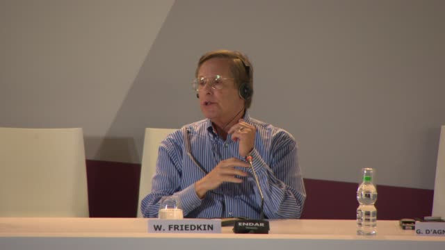 vidéos et rushes de interview william friedkin on how cinema is changing at golden lion for lifetime achievement award william friedkin press conference on august 29... - william friedkin
