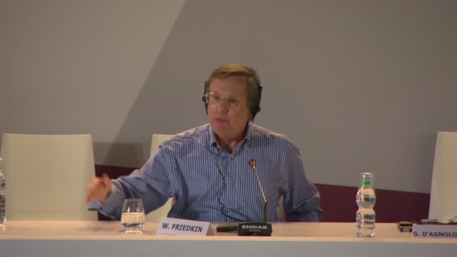 vidéos et rushes de interview william friedkin on the role of cinema in society at golden lion for lifetime achievement award william friedkin press conference on august... - william friedkin