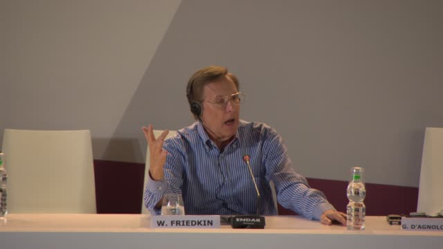 vidéos et rushes de interview william friedkin on what films he watches at golden lion for lifetime achievement award william friedkin press conference on august 29 2013... - william friedkin