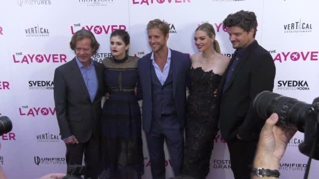 William H Macy Alexandra Daddario Matt Barr Kate Upton Matt Jones at 'The Layover' Premiere in Los Angeles CA
