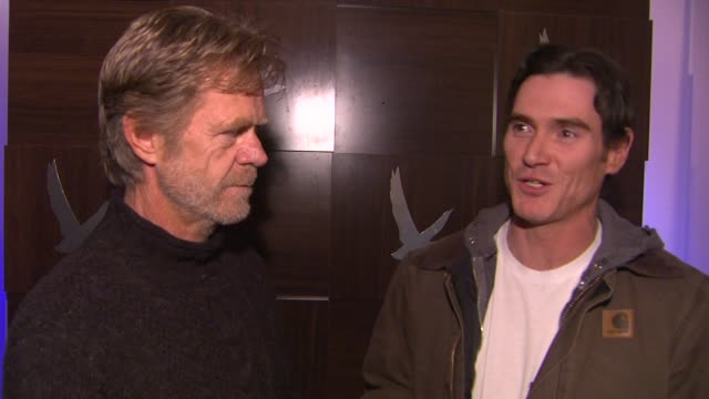 interview william h macy and billy crudup at grey goose blue door hosts rudderless party during sundance film festival on in park city utah - park city utah video stock e b–roll
