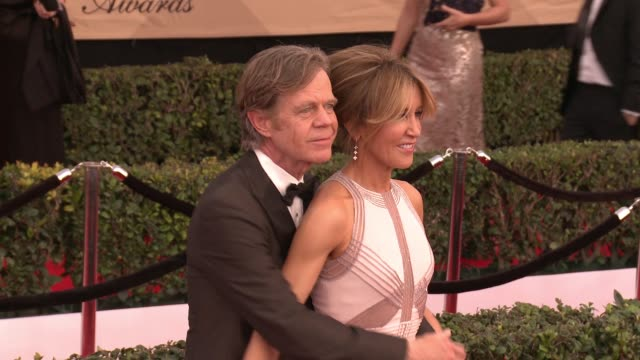 William H Macy and Felicity Huffman at 23rd Annual Screen Actors Guild Awards Arrivals at The Shrine Expo Hall on January 29 2017 in Los Angeles...