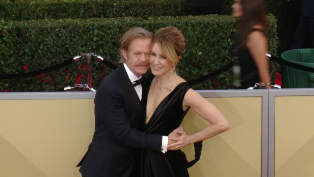William H Macy and Felicity Huffman at the 24th Annual Screen Actors Guild Awards at The Shrine Auditorium on January 21 2018 in Los Angeles...