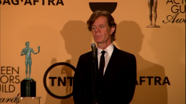 INTERVIEW William H Macy at 21st Annual Screen Actors Guild Awards Photo Room in Los Angeles CA