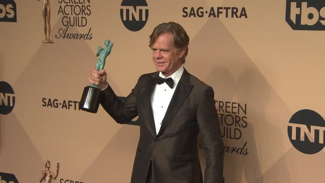 William H Macy at 23rd Annual Screen Actors Guild Awards Press Room Photo Room at The Shrine Expo Hall on January 29 2017 in Los Angeles California