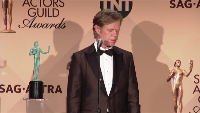 SPEECH William H Macy at 23rd Annual Screen Actors Guild Awards Press Room in Los Angeles CA