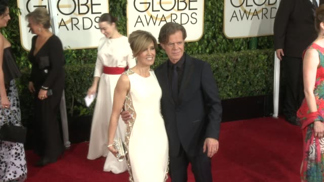 william h. macy at 72nd annual golden globe awards - arrivals at the beverly hilton hotel on january 11, 2015 in beverly hills, california. - the beverly hilton hotel stock videos & royalty-free footage