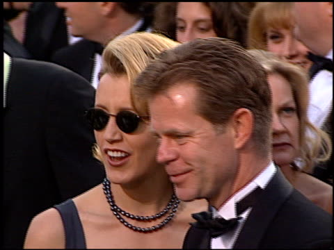 william h macy at the 1997 academy awards arrivals at the shrine auditorium in los angeles, california on march 24, 1997. - 69th annual academy awards stock videos & royalty-free footage
