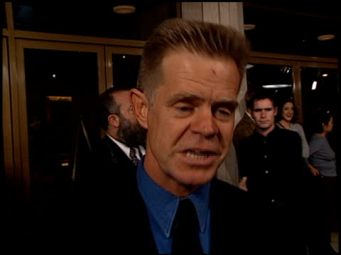 william h macy at the 'pleasantville' premiere at the mann national theatre in westwood california on october 19 1998 - mann national theater stock videos & royalty-free footage