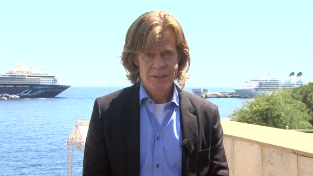 william h macy on collaborating with his wife and reading each other's scripts and how supportive they are with each other at the 51st montecarlo... - other stock videos and b-roll footage