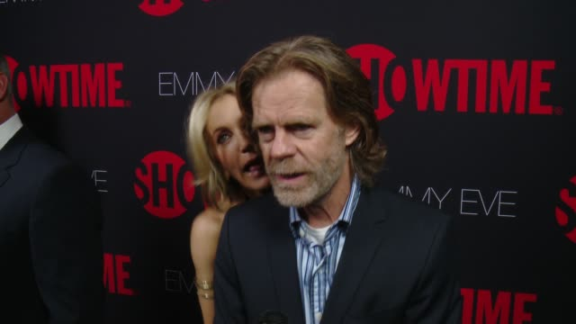interview william h macy on what it would mean to him to take home the emmy what showtime's 24 nominations say about the network at showtime emmys... - エミー賞点の映像素材/bロール