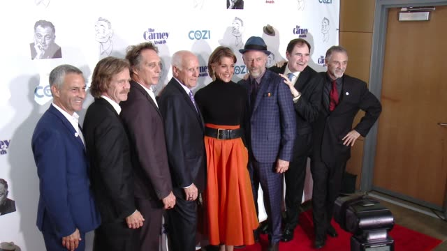 william h. macy, wendie malick, xander berkeley, william fichtner, brian carney, richard kind, and jim katz at the 3rd annual carney awards at the... - wendie malick stock videos & royalty-free footage