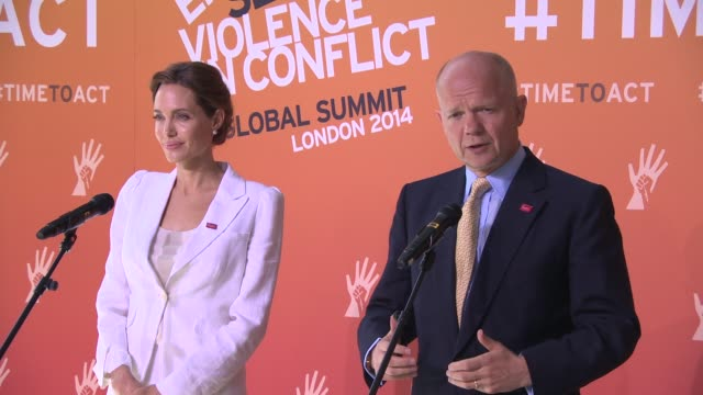 INTERVIEW William Hague and Angelina Jolie set out the agenda for the summit at Foreign Secretary William Hague and Special Envoy Angelina Jolie...