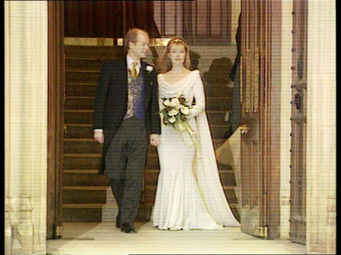 william hague image makeover lib london conservative party leader william hague mp and wife ffion along after wedding william and ffion hague kissing - chest kissing stock videos & royalty-free footage
