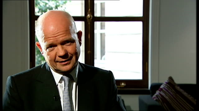 london int william hague mp interview sot we raised this [investigation into yvonne fletcher murder] in may with the ntc it will be a priority for us... - new chance stock videos & royalty-free footage