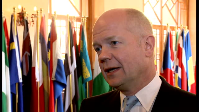 William Hague Interview On Syria And North Korea Morocco Marrakech Int William Hague Mp Interview Sot