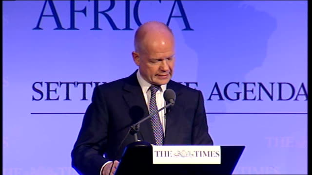 william hague speech at the times ceo summit africa hague speech sot the african union is now approaching its 10th anniversary and has been involved... - 2008 stock videos & royalty-free footage