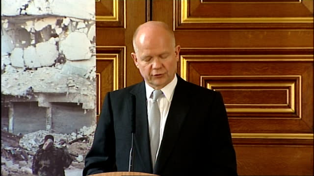 william hague speech on human rights england london foreign and commonwealth office int william hague mp speech sot this is a very important part of... - political action committee bildbanksvideor och videomaterial från bakom kulisserna