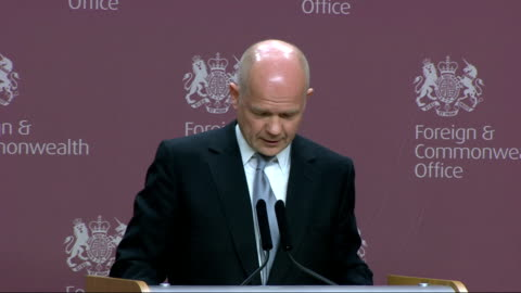 william hague speech on strengthening britain's consular diplomacy; hague speech sot **speech transcript: check against delivery** - we cannot... - human representation stock videos & royalty-free footage