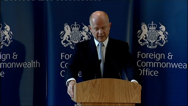 william hague speech to the foreign and commonwealth office; hague speech sot - together we are turning around the decline in language teaching in... - 30 seconds or greater bildbanksvideor och videomaterial från bakom kulisserna