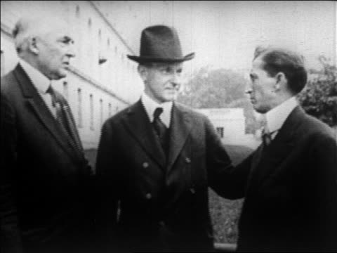 william hayes standing with warren g harding calvin coolidge / newsreel - coolidge calvin stock videos & royalty-free footage