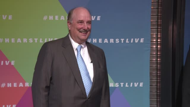 william hearst iii at hearst launches hearstlive, a multimedia news installation at 57th street & 8th avenue in nyc at hearst tower on september 27,... - multimedia stock videos & royalty-free footage