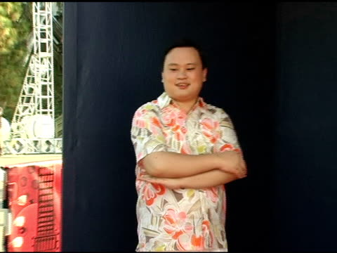 william hung at the 2005 teen choice awards exclusive on-site portrait studio at the universal amphitheatre in universal city, california on august... - universal city video stock e b–roll