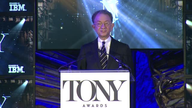 william ivey long, executive director, the american theater wing announces that this event marks the start of tony season, announces the lifetime... - executive director stock videos & royalty-free footage