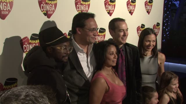 william jimmy smits wanda de jesus brad gluckstien at the conga room grand opening at los angeles ca - jimmy smits stock videos and b-roll footage