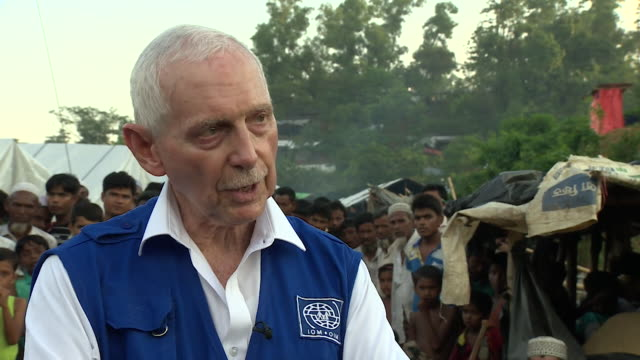william lacy swing director general of the international organisation for migration talking about the resilience of rohingya refugees - bbc点の映像素材/bロール