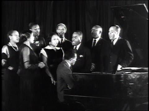 William Lawrence directing choir / New York City New York